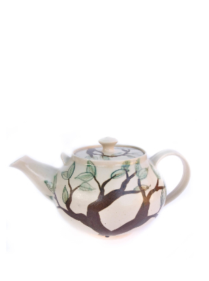Large Leaf tree teapot