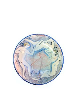 Round plate Blue