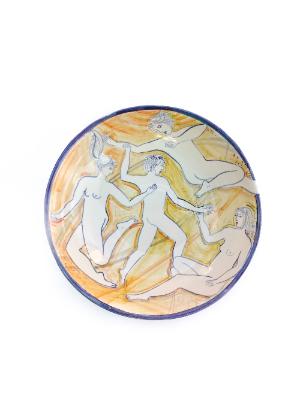 Round plate 1 Yellow