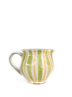Small Green stripe jug