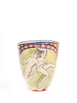 Tall figurative cup