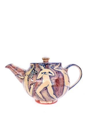 Teapot purple large